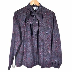 Paisley Purple Vintage Blouse L